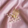 Grzebyk do włosów z perłami