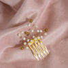 Mały grzebyk do włosów z perłami