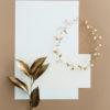 wianek ślubny z liśćmi