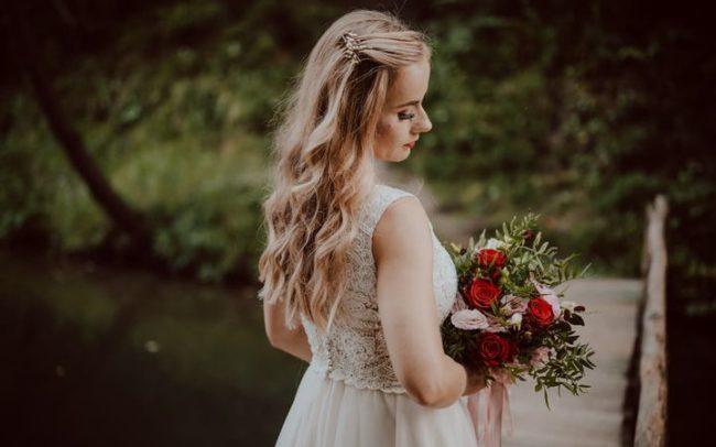 grzebyk do włosów na ślub